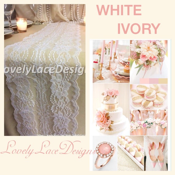 Ivory lace table runner 12ft 20ft long x 8 by for 12 foot table runner
