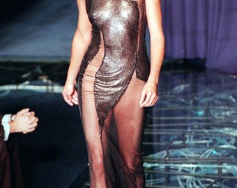 Gianni Versace Couture Web metal sequins