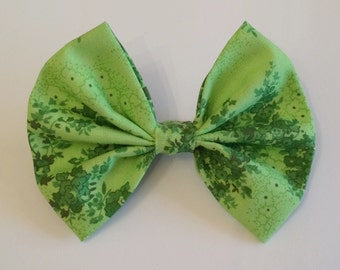 Ivy Hair Bow, Green Fabric Hair Bow, Poison Ivy, Plant