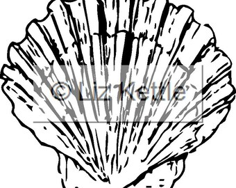 Scallop Shell- Thermofax Screen for Instant Screen Printing