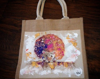 Custom pet painting done on placemat, canvas tote bag, change purse, and much more!