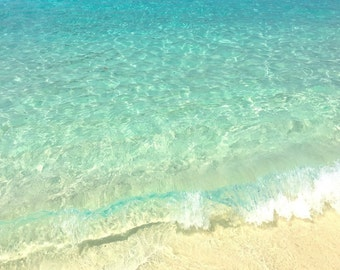 Beach Photography, Ocean Print, Coastal Wall Art, Sea Waves, Water Photography