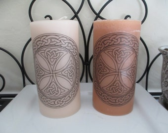 Celtic Cross Pillar Candle