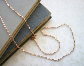 """Two 24"""" Rose Gold Chains Pink Gold"""