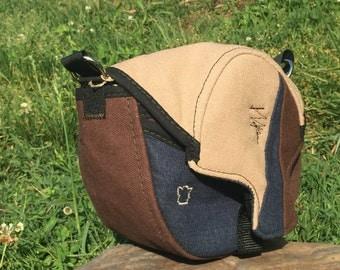 Hemp Disk golf bag, Tan/Brown… one of a kind!!!