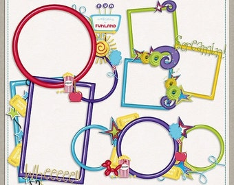 ON SALE NOW Funland Digital Scrapbooking Cluster Frames