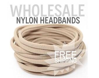 BULK Baby Headband / Wholesale Spandex Headband / Skinny Very Stretchy One Size Fits most Nylon