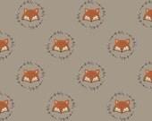 Wilderness - Fox(Light Taupe Background) - Camelot Fabrics