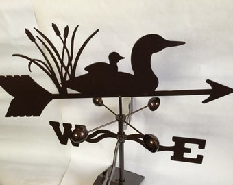 Metal  Loon Wind Vane, Garden Decor, Garden Art,