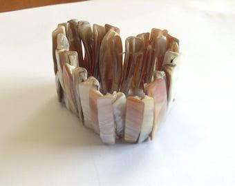 Expander cuff  bracelet, abalone bracelet, expander bracelet, abalone shell, 1970s bracelet, bracelet bangle, shell bracelet, abalone bangle