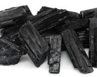 Raw Black Tourmaline Stones - 1LB Jewelry Making and Metaphysical