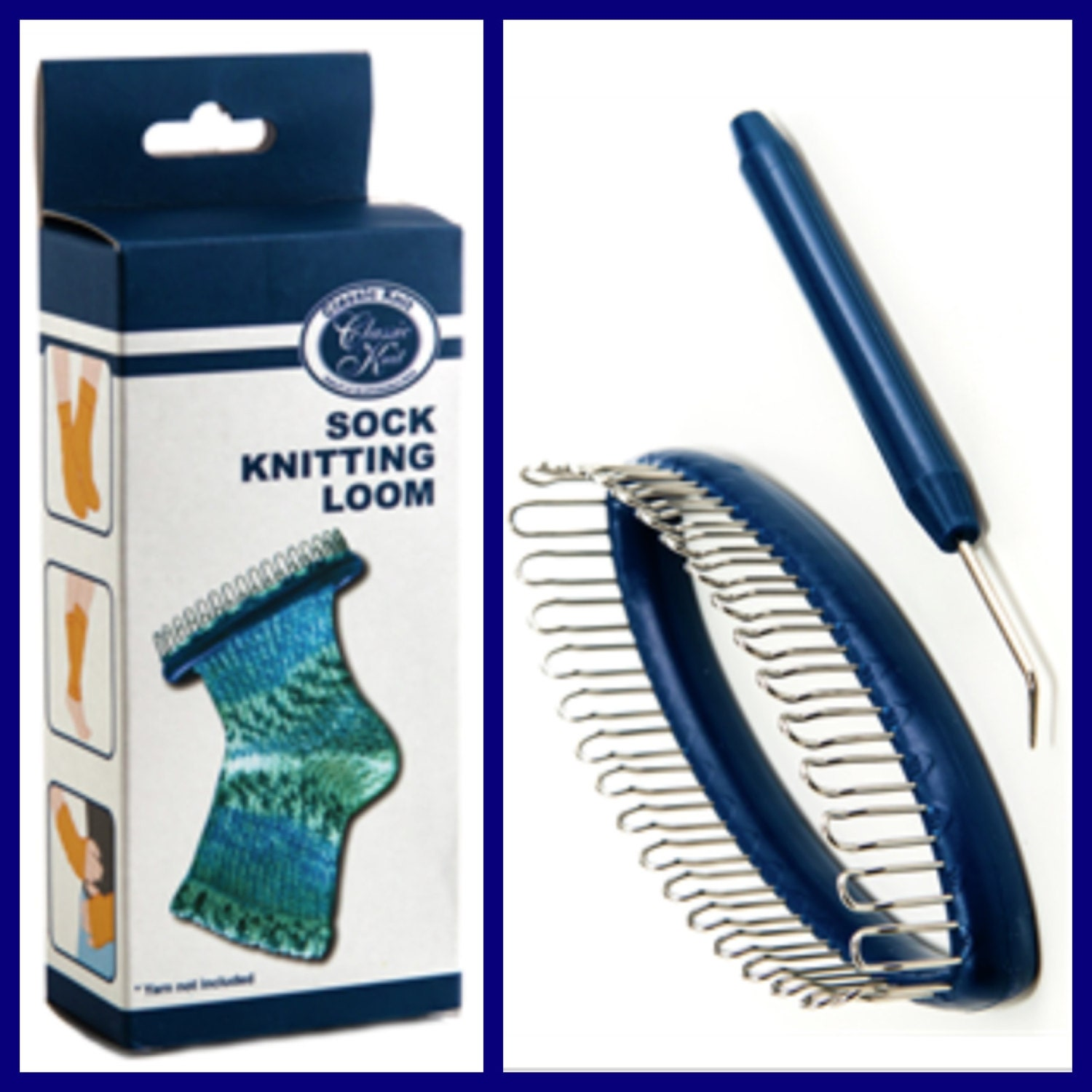 Knitting Loom Kit : Sock knitting loom great gift learn to knit kit with yarn