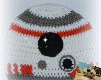 Crochet Finished Star Wars BB - 8 Hat