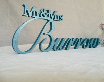 Personalized Wedding Family Sign Mr & Mrs Last Name- Personalized Wedding Signs,  Mrs and Mr Last Name