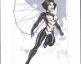 The Wasp Original Art by Scott Dalrymple Matted Signed 2015 2*