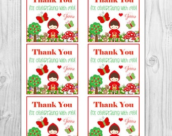 Little Red Riding Hood Favor Tags