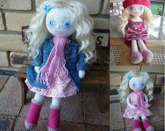 Chelsea Handmade Doll with wardrobe