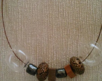 collane in vetro e ceramica