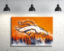 Denver Broncos framed Canvas Wall Art