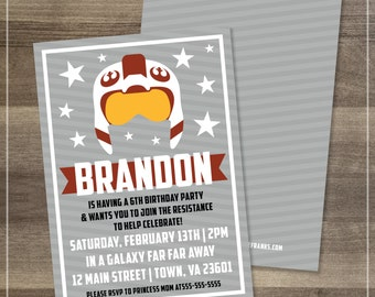 Star Wars Red Five Birthday Party Invitation | Customizable | DIGITAL FILE