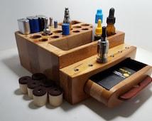 E- Cigarette Ecig Vapor  Vape  Stand/Display Wood Organizer (EC0393) --Tube Mod - Box Mod -  Mini Box Mod, Tanks - Batteries - Tips