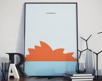 Sydney Opera House, Australia, Print. Poster.