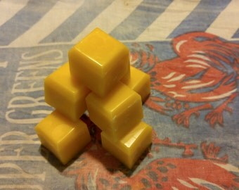 100% Pure Raw Beeswax 1.5 Pounds (Eight 3 oz Cubes)