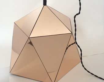 Large Geometric Mirrored Pendant