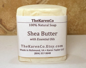 Shea Butter Soap, Lemongrass, Essential Oils, Face Soap, All Natural Soap, Handcrafted Soap