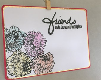 Floral Friends Postcard