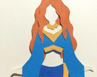 Irish Goddess Danu Paper Cut