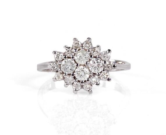 Diamond Ring 0.90 ct- Engagement ring - wedding band