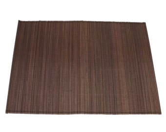 """Brown Bamboo Place Mat 13"""" x 19"""" set of 4 Home & Kitchen, Home Decor, elegant looking, place setting, modern look,  (BAP01-15)"""