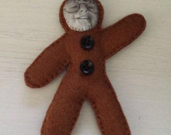 Personalised Gingerbread People Christmas Decoration, Personalised Snowman Decoration