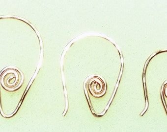 Small, Medium or Large INTERCHANGEABLE Earring Wires Sterling Silver, Rose, YG or Copper