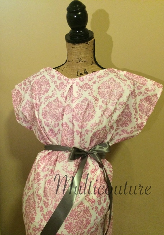 Labor and Delivery gown, Maternity gown, nursing gown, delivery gown, hospital dress