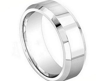 Cobalt Ring Polished Shiny with Beveled Edge 8mm 75% off.