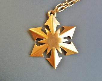 Vintage Crown Trifari Maltese Cross, Gold Crown Trifari Maltese Cross