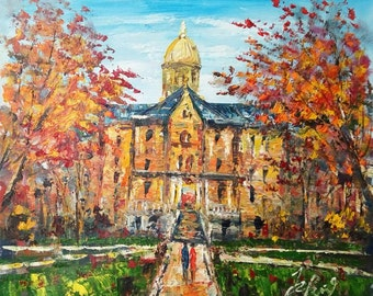 Golden Dome in Fall,In University of Notre Dame-Pen King -A1043