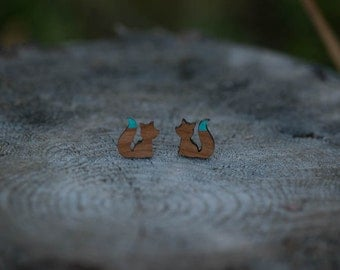 Fox Silhouette Stud Earrings