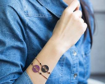 Black Zircon Infinity jewelry Minimalist Bracelet,925 Sterling Silver Infinity Bracelet,Tennis Rose Gold Plated Bracelet-BRA-1027-BRA-1019