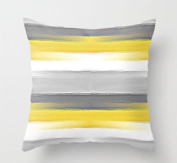 Yellow Grey Pillow Throw Pillow Covers Decorative Pillow