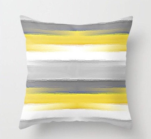 Yellow And Grey Throw Pillow Covers : Yellow Grey Pillow Throw Pillow Covers Decorative Pillow