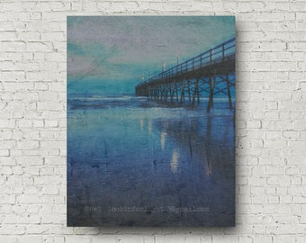 Ocean Blue Sunrise | Abstract Ocean | Blue Ocean Per | Sublime Sunset Beach Pier | Atlantic Ocean | Sunset Beach | North Carolina Beach Art