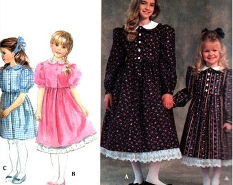 Simplicity Sewing Pattern 8688  Girls' Dress, Petticoat in two lengths  Size:  HH  3-6  Used