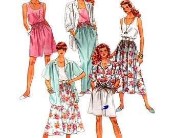 McCall's Sewing Pattern 5271 Misses' Shirt, Tank Top, Skirt, Pants, Shorts  Size:  22-24  Uncut