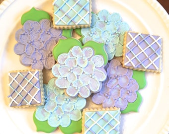 Hydrangea Cookies | Flower Cookies | Mother's Day | Gift for Mom | One Dozen