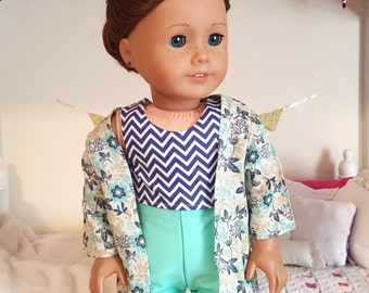 american girl doll three piece outfit