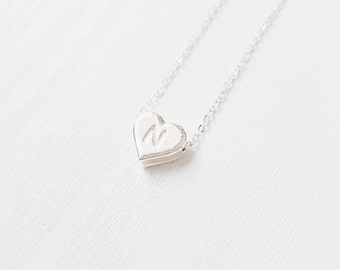 Heart Initial Necklace | Alphabet | Name Necklace | Personalized | Gift | Birthday | Girlfriend | Daughter | Sister | A-Z