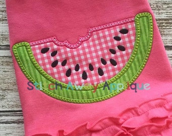 Watermelon Summer Machine Applique Design